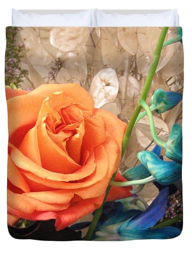 Floral Arrangement Duvet Cover featuring the photograph Floral Arrangement by Lillian Hibiscus