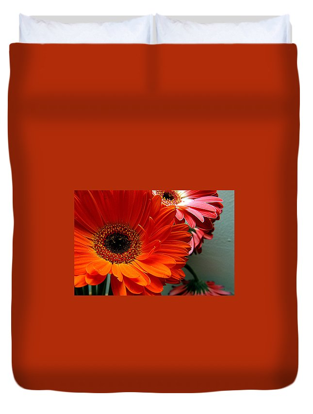 Clay Duvet Cover featuring the photograph Floral Art by Clayton Bruster