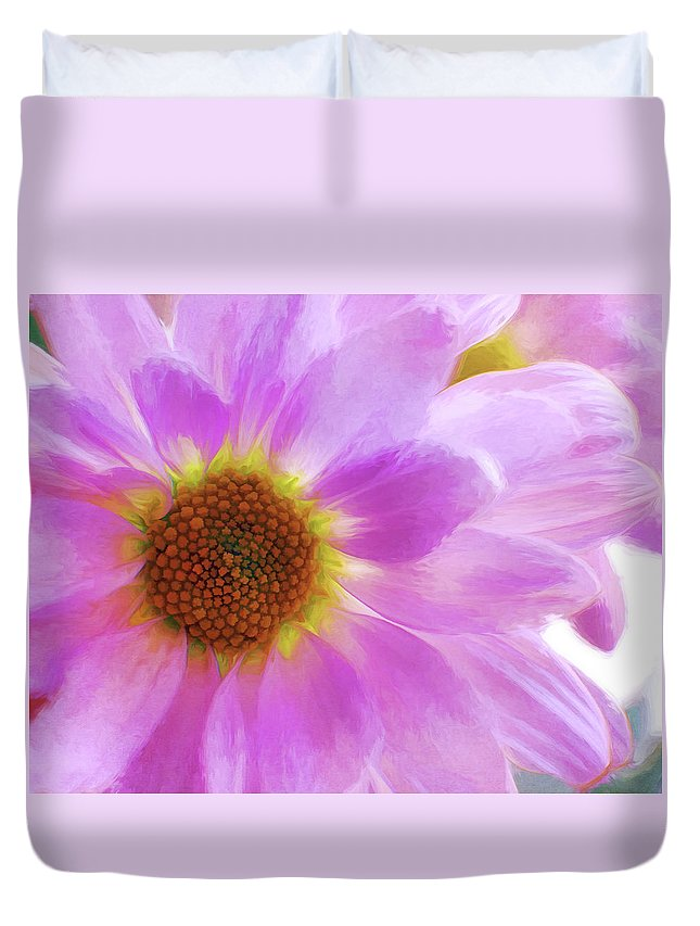 Flowers Duvet Cover featuring the photograph Floral Art Cxvi by Tina Baxter