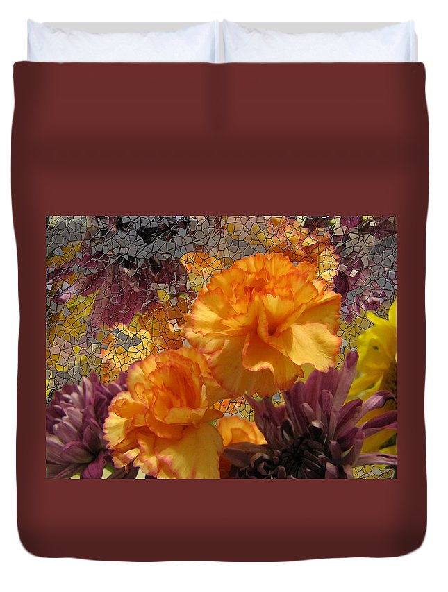 Flowers Duvet Cover featuring the photograph Floral Explosion by Tim Allen