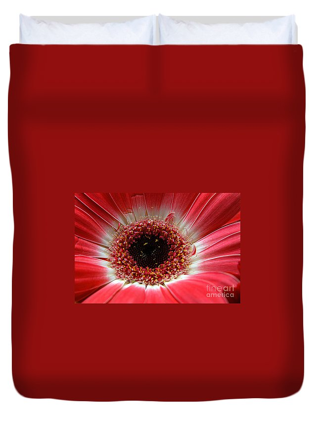 Clay Duvet Cover featuring the photograph Floral Eye by Clayton Bruster