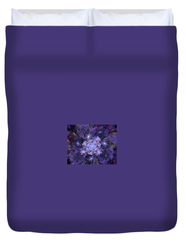 Digital Painting Duvet Cover featuring the digital art Floral Fantasy 1 by David Lane