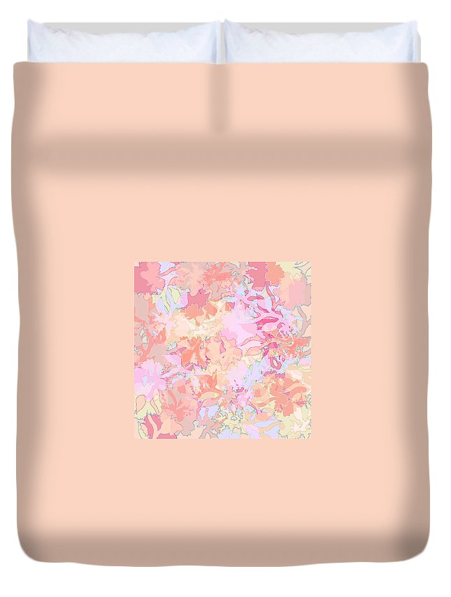 Abstract Duvet Cover featuring the digital art Floral Menagerie by Rachel Christine Nowicki