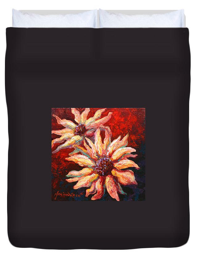 Floral Duvet Cover featuring the painting Floral Mini by Marion Rose