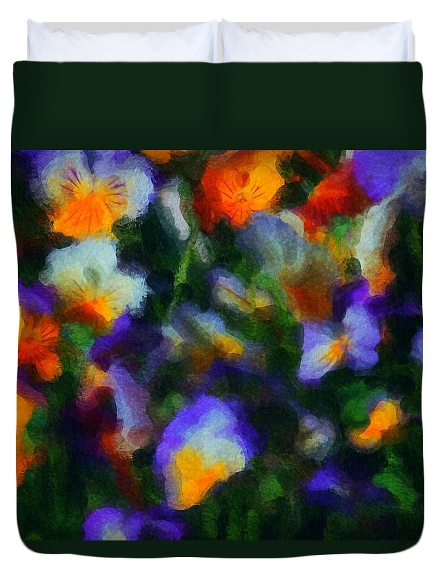 Digital Photography Duvet Cover featuring the photograph Floral Study 053010a by David Lane