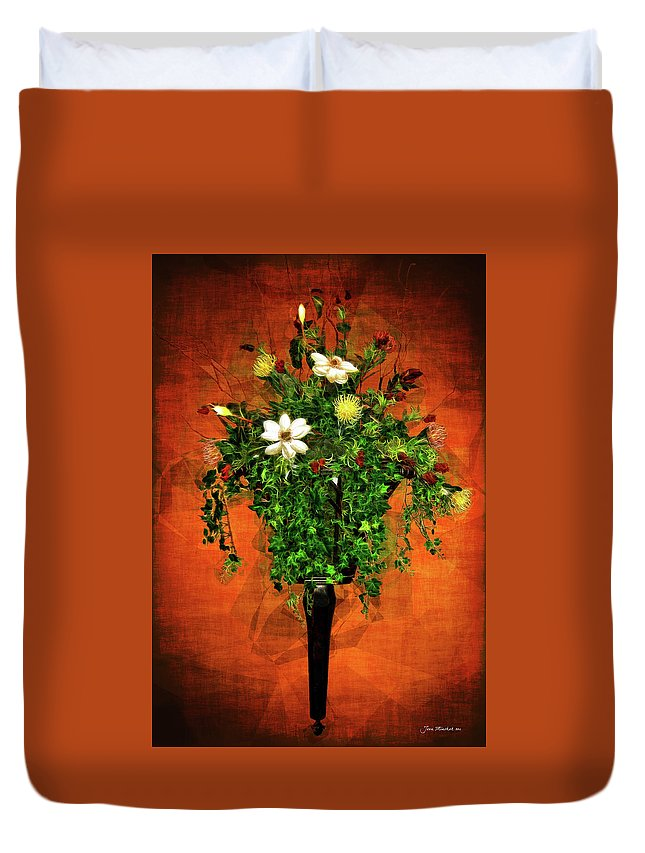 Floral Duvet Cover featuring the photograph Floral Wall Arrangement by Joan Minchak