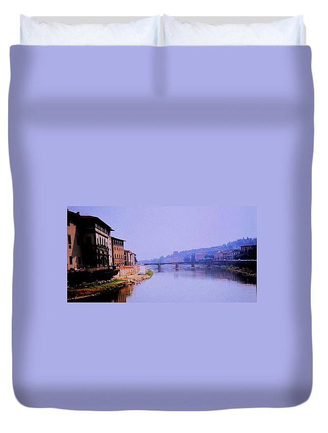 Florence Duvet Cover featuring the photograph Florence by Ian MacDonald