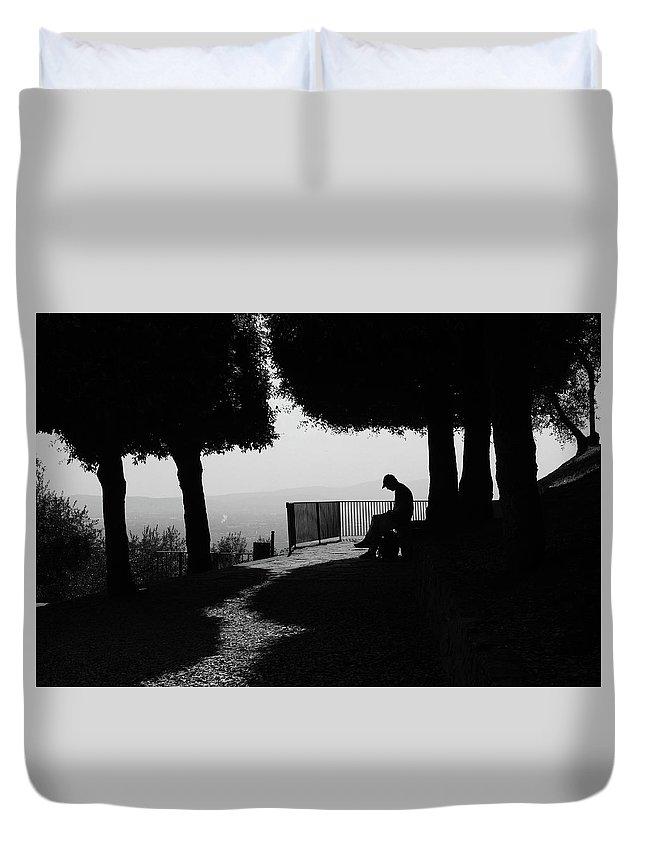 Michaela Sieberova Duvet Cover featuring the photograph Florence Moods, 8887, Vii/2013 by Michaela Sieberova