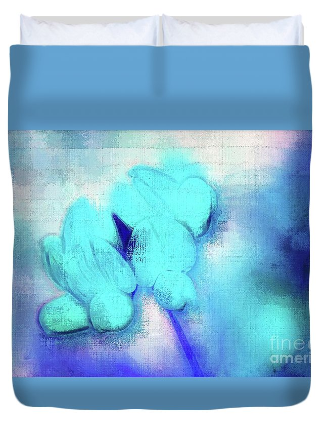 Floral Duvet Cover featuring the digital art Florentina - Jbluz01 by Variance Collections