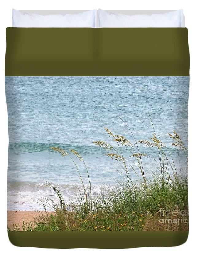 Florida Duvet Cover featuring the photograph Florida Sea Oats by Tim Townsend