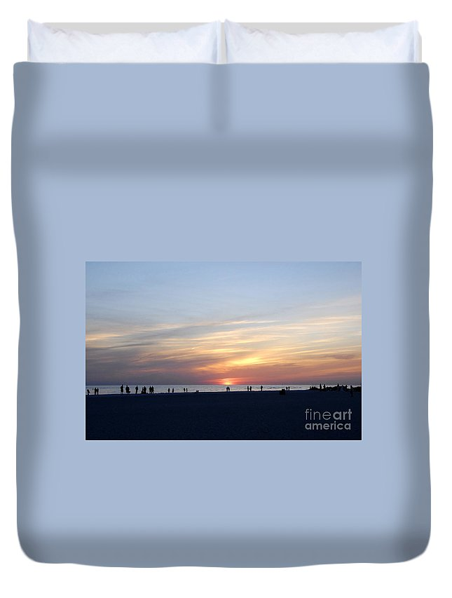 Florida Duvet Cover featuring the photograph Florida Sunset by David Lee Thompson
