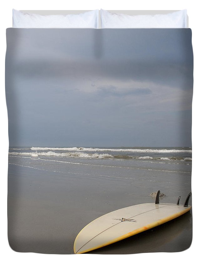 Florida Duvet Cover featuring the photograph Florida Surf by Jamie McCann