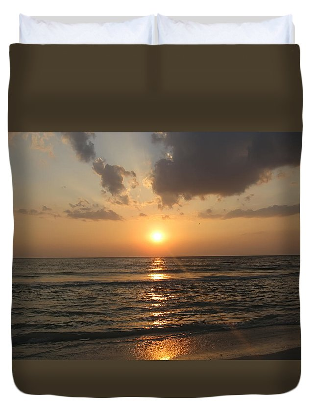 Florida Duvet Cover featuring the photograph Florida's West Coast - Clearwater Beach by Bill Cannon