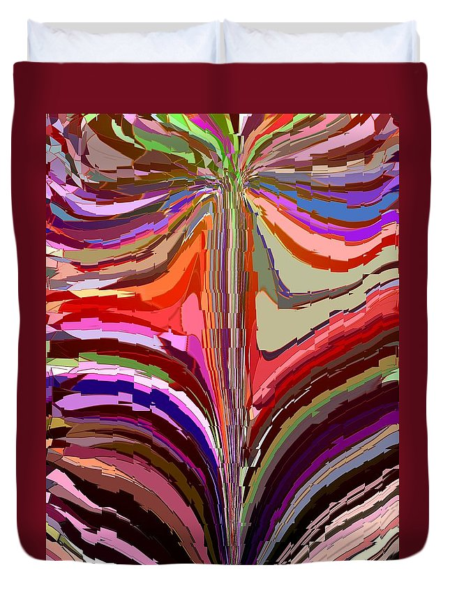 Abstract Duvet Cover featuring the digital art Flourish Again by Tim Allen