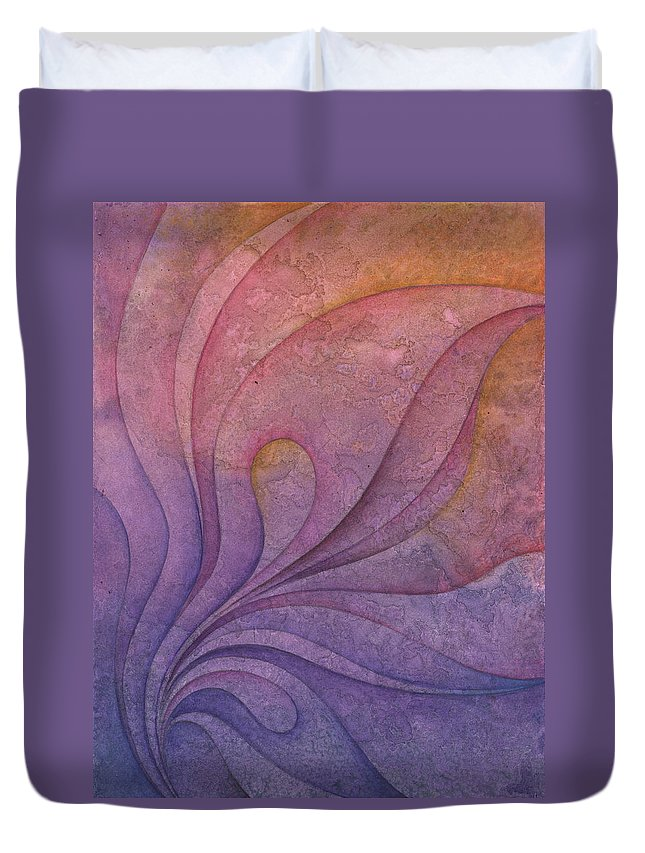 Water Duvet Cover featuring the painting Flow 10 by Ellen Starr