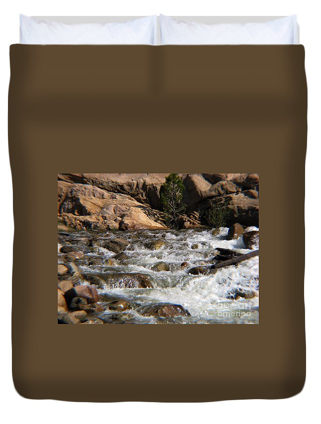 River Duvet Cover featuring the photograph Flow by Amanda Barcon