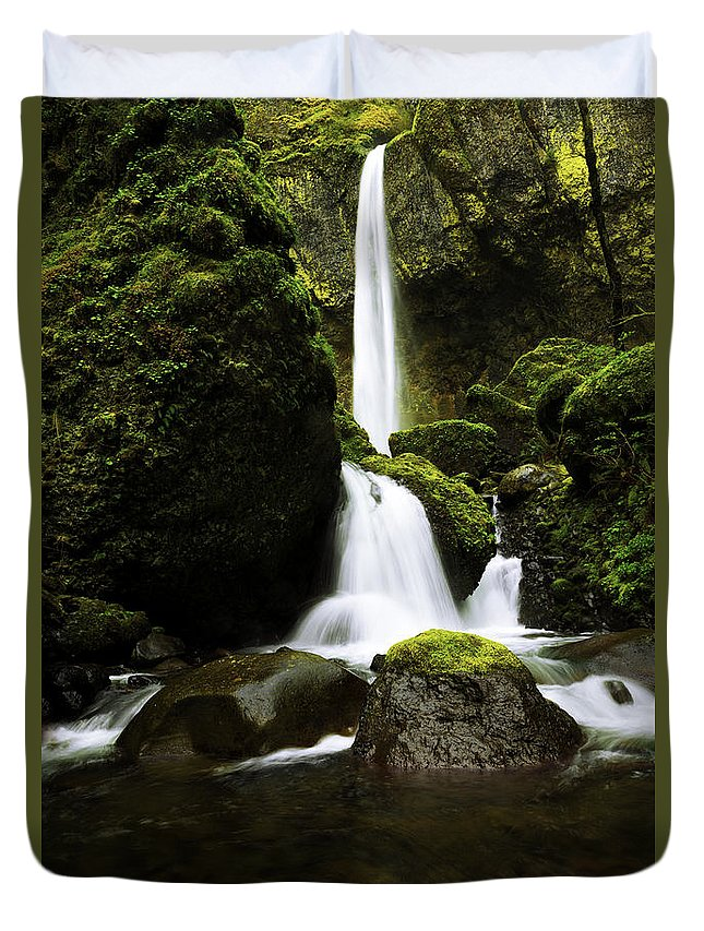 Northwest Duvet Cover featuring the photograph Flow by Chad Dutson