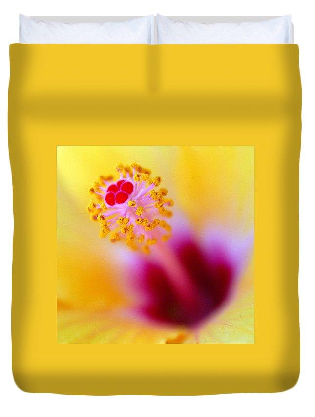 Flower Duvet Cover featuring the photograph Flower - Stamen 2 by Jill Reger