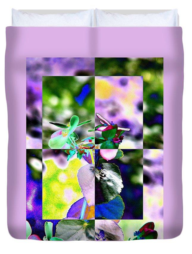 Flower Duvet Cover featuring the digital art Flower 2 by Tim Allen
