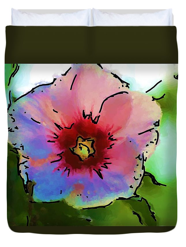 Landscape Duvet Cover featuring the photograph Flower 8-15-09 by David Lane