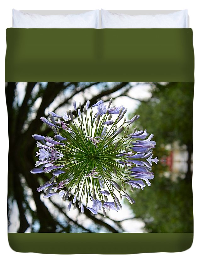 Duvet Cover featuring the photograph Flower Abstract by Andrea Shirley