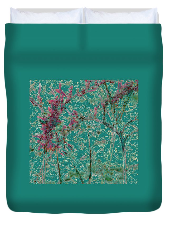 Abstract Duvet Cover featuring the photograph Flower Arches by Lenore Senior