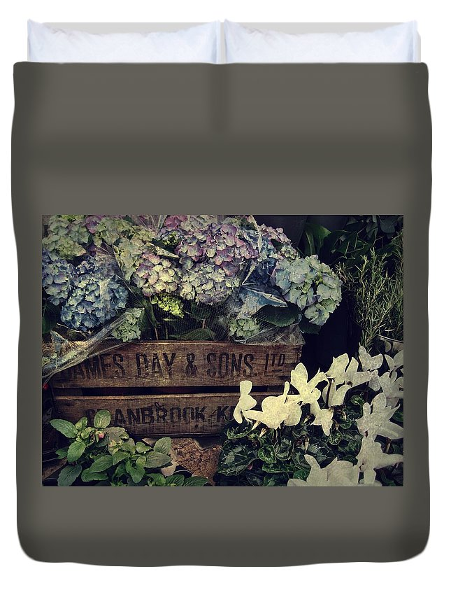 Hydrangeas Duvet Cover featuring the photograph Flower Box by JAMART Photography