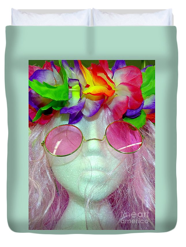 Mannequins Duvet Cover featuring the photograph Flower Child by Ed Weidman