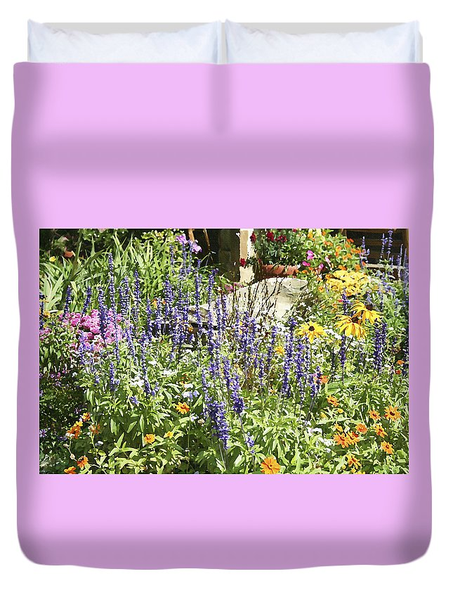 Flower Duvet Cover featuring the photograph Flower Garden by Margie Wildblood