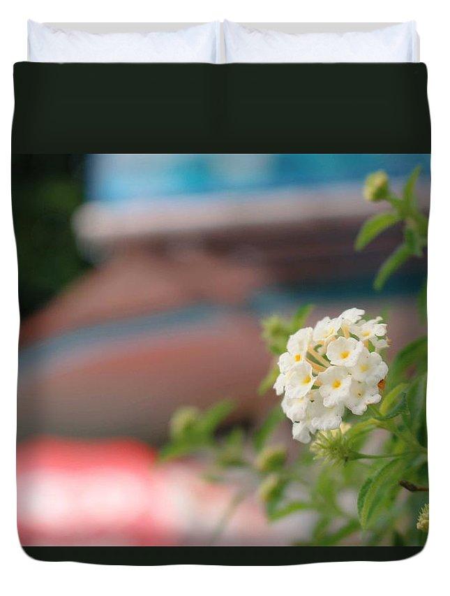 Duvet Cover featuring the photograph Flower Grow by Tanakrit Songkijkunchit