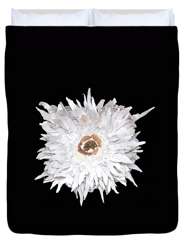 Flower Duvet Cover featuring the mixed media Flower by Jaime Becker