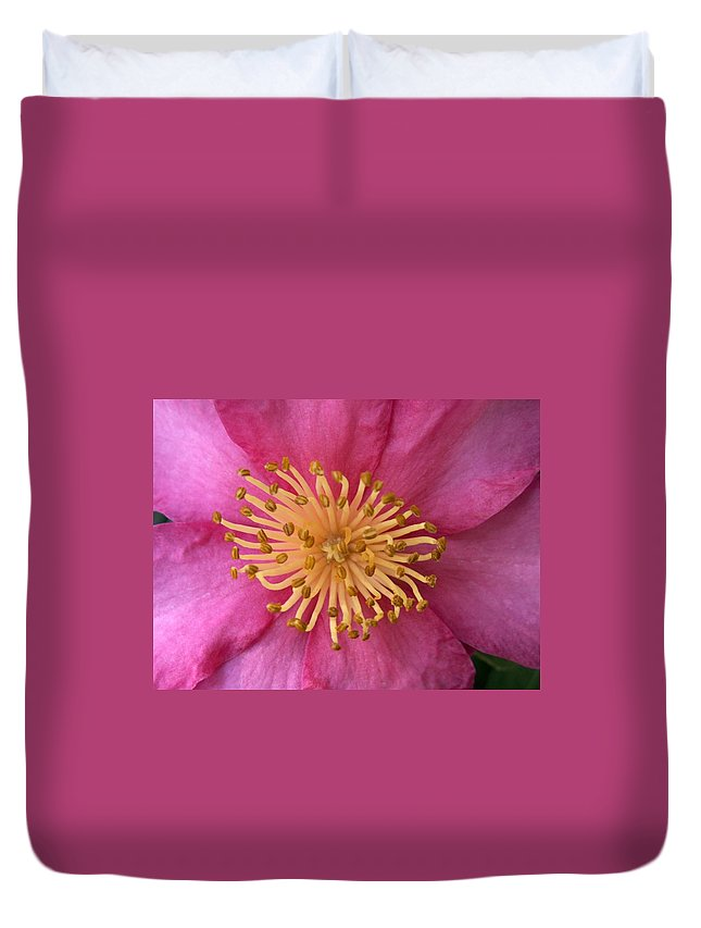 Flowers Duvet Cover featuring the photograph Flower Macro by Amy Fose