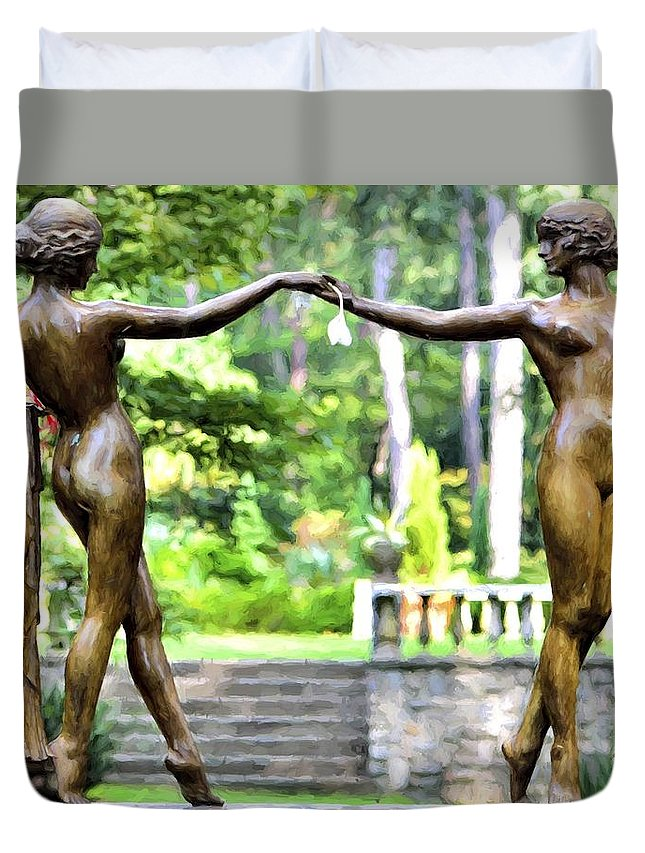 Photo Duvet Cover featuring the photograph Flower Maidens by Joseph Broyles