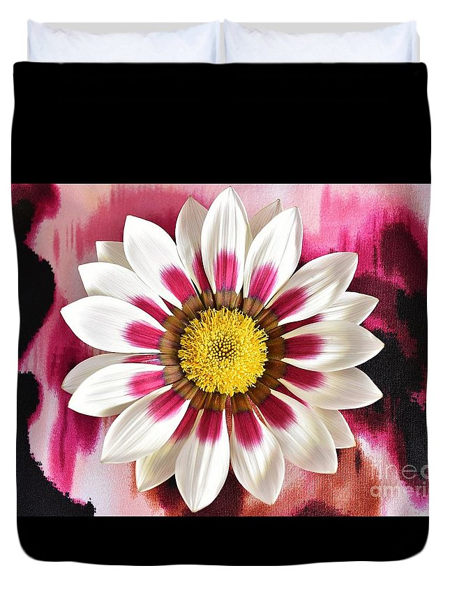 Gazania Duvet Cover featuring the photograph Flower Power by Brenda Lawlor