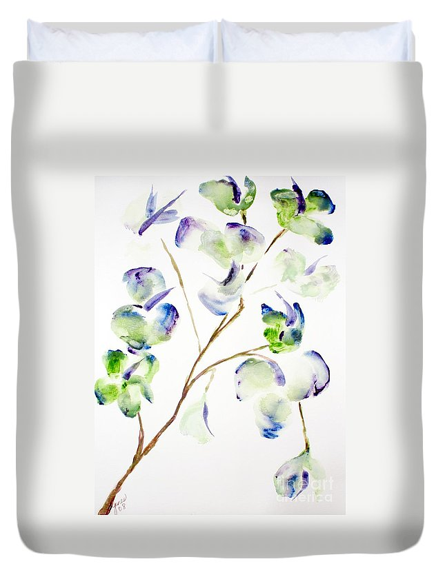 Flower Duvet Cover featuring the painting Flower by Shelley Jones