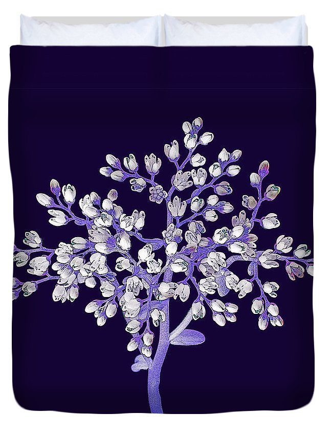 Flower Duvet Cover featuring the photograph Flower Tree by Digital Crafts