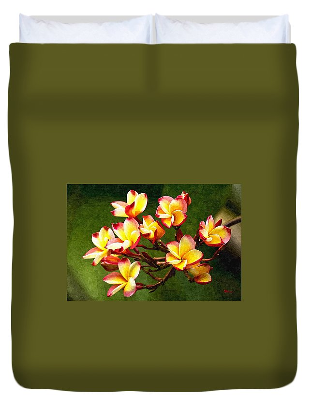Branch Duvet Cover featuring the digital art Flowerage by Max Steinwald