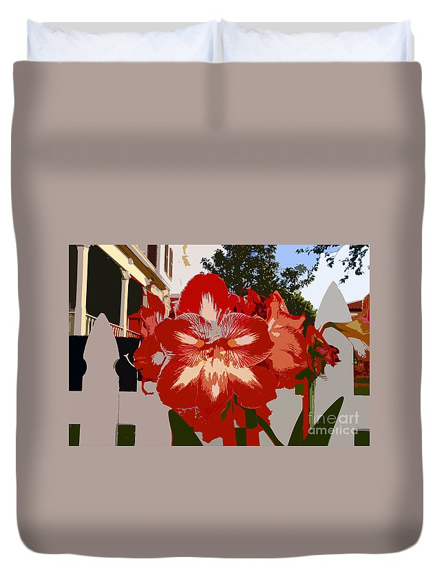 Flower Duvet Cover featuring the photograph Flowering Backyard Work Number 33 by David Lee Thompson