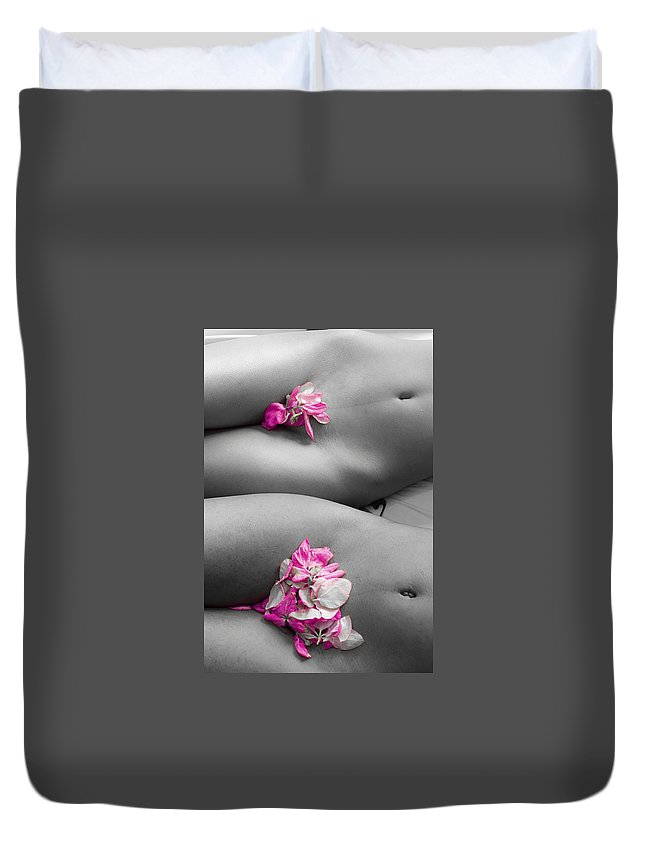 Duvet Cover featuring the photograph Flowers by Brian Gomes