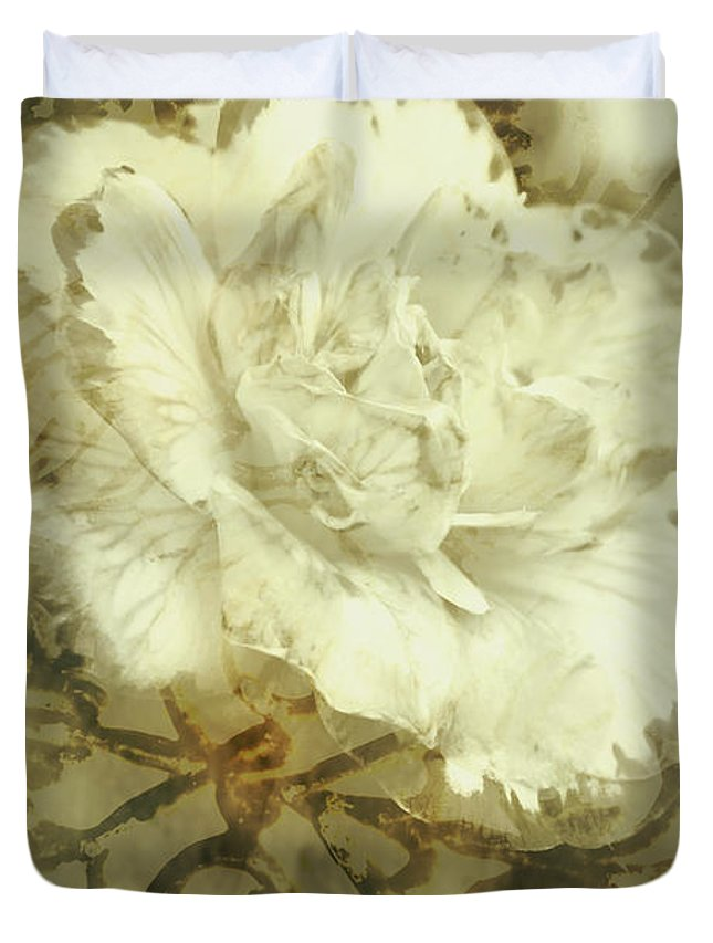 Flower Duvet Cover featuring the photograph Flowers By The Window by Jorgo Photography - Wall Art Gallery