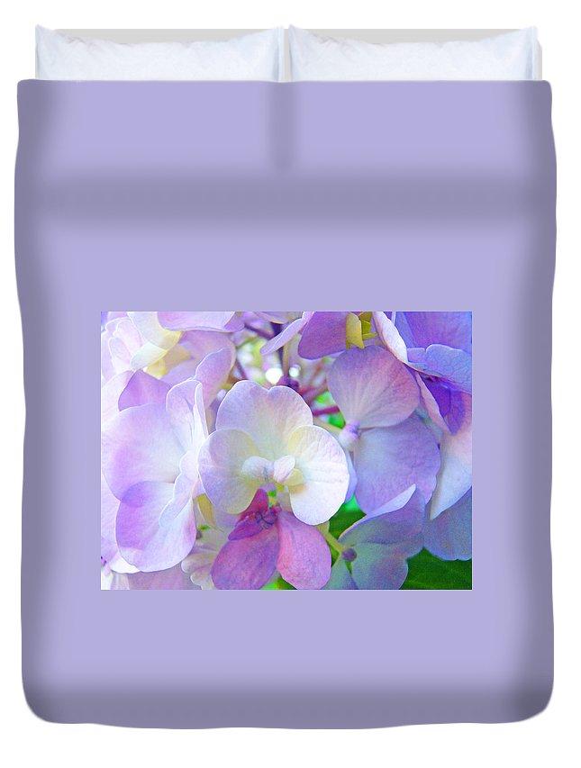 Hydrangea Duvet Cover featuring the photograph Flowers Hydrangeas Art Prints Floral Garden Baslee Troutman by Baslee Troutman