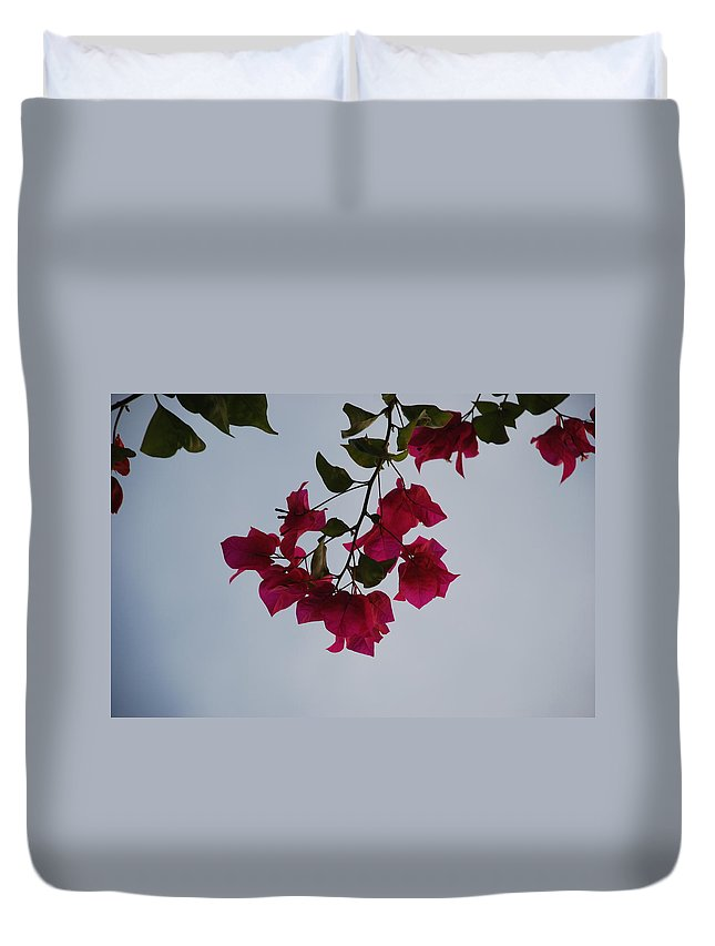 Flowers Duvet Cover featuring the photograph Flowers In The Sky by Rob Hans