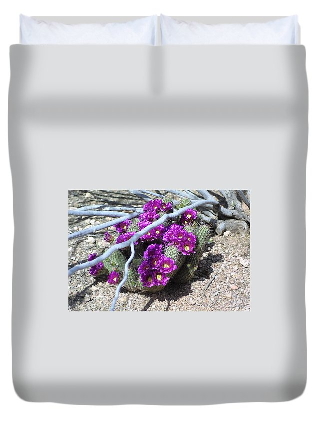 Nature Duvet Cover featuring the photograph Flowers by Lisa Spero
