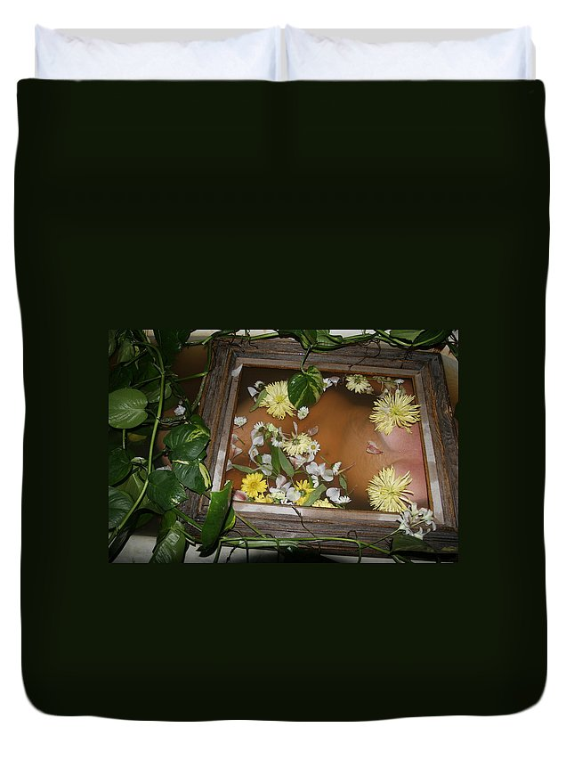 Lucky Cole Everglades Photographer Female Nude Everglades Duvet Cover featuring the photograph Flowers by Lucky Cole