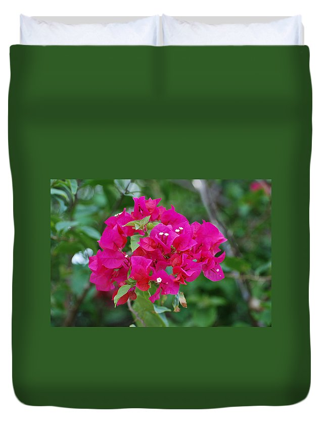 Flowers Duvet Cover featuring the photograph Flowers by Rob Hans