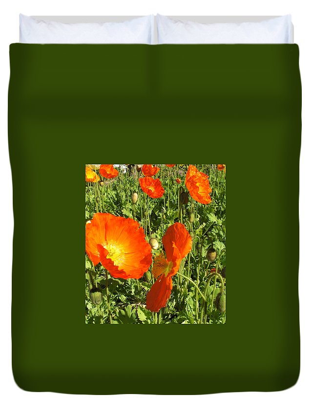 Flowers Duvet Cover featuring the photograph Flowers by Shari Chavira
