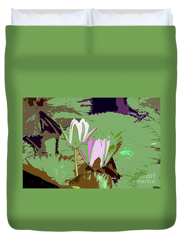 Flowers Duvet Cover featuring the photograph Flowers Work Number 3 by David Lee Thompson