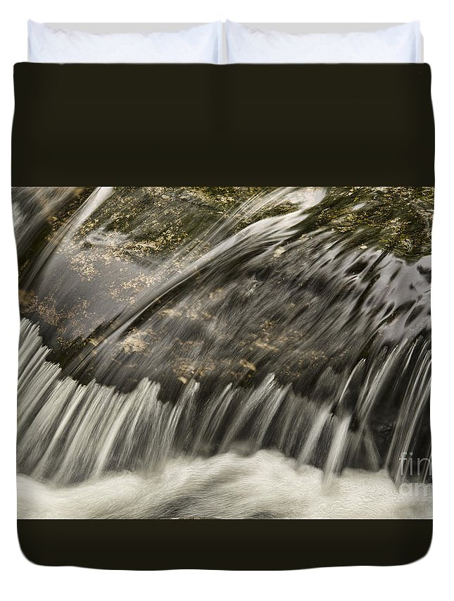 Flowing Water Duvet Cover featuring the photograph Flowing by Alana Ranney