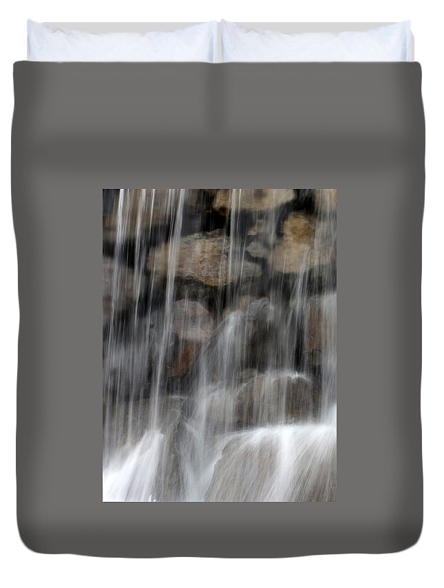 Water Duvet Cover featuring the photograph Flowing Veil by Carol Groenen