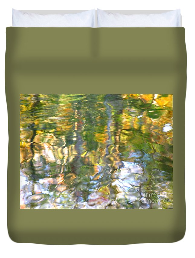Water Art Duvet Cover featuring the photograph Fluctuations by Sybil Staples